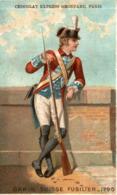 CHROMO CHOCOLAT GRONDARD GARDE SUISSE FUSILIER 1790 - Altri