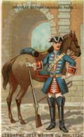 CHROMO CHOCOLAT GRONDARD GENDARME DE LA MAISON DU ROI 1730 - Altri