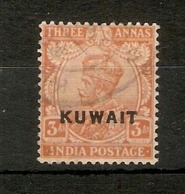 KUWAIT 1923 3a DULL ORANGE SG 6 FINE USED Cat £27 - Kuwait