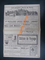 INDICATEUR CHAIX  Carte Chemins De Fer Français - Grds Gares De Paris  ( Pub Distillerie Lacaux Frères - PERRIER JOUËT - Europe