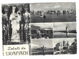 1347 - SALUTI DA TRAPANI 6 VEDUTE 1956 - Trapani