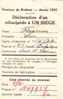 Déclaration D'un Vélocipède à Un Siège - Collections