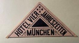 9239 -   Etiquette Hôtel Vier Jahreszeiten Mûnchen - Documentos Antiguos