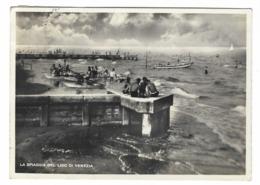 1354 - LA SPIAGGIA DEL LIDO DI VENEZIA ANIMATA 1957 - Venezia