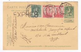 Entier   Postal   Avec Cachet EXPRES - Postwaardestukken
