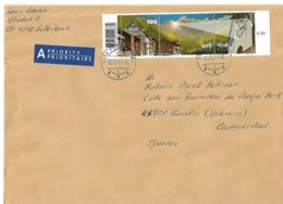 Correo Ordinario De Suiza  A España. Tema: Naturaleza Y Relojes - Suiza