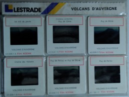 VOLCANS D'AUVERGNE    : 6 DIAPOSITIVES LESTRADE SUR FILM KODAK - Diapositives (slides)
