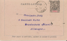 Entier Postal Carte Lettre 25c Groupe Senegal - Senegal (1887-1944)