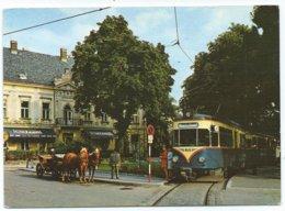 Baden Bei Wien Tram Tramway Strassenbahn Trolley Josefsplatz Interurban 1973 - Baden Bei Wien