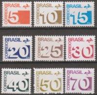 Brasile 1972-73 Selezione Posta Ordinaria 9v MNH/** - Neufs