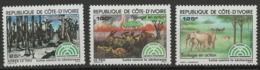 Côte D'Ivoire YT 667-669 XX / MNH - Ivory Coast (1960-...)