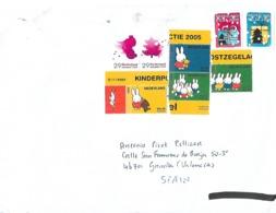 Correo Ordinario A España. Tema: Infantil Y Navidad. Franqueo En Euros - Cartas