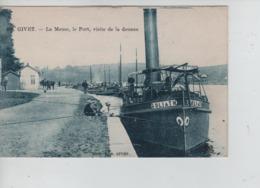 CBPNCPF4/ France CP Givet La Meuse-Le Port-Visite De La Douane Animée Péniches-Pêcheurs NEUVE - Givet