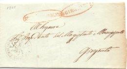 1848 Prefilatelica -SERVIZIO PUBBLICO - Con Stemma Della TRINACRIA - Per Agrigento 026 - 1. ...-1850 Prefilatelia