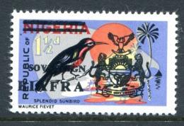 Biafra - Nigeria 1968 Wildlife Overprints - 1½d Sunbird MNH (SG 6) - Nigeria (1961-...)