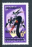 Biafra - Nigeria 1968 Wildlife Overprints - 6d Spoonbill HM (SG 9) - Nigeria (1961-...)