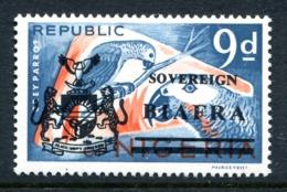 Biafra - Nigeria 1968 Wildlife Overprints - 9d Parrots HM (SG 10) - Nigeria (1961-...)