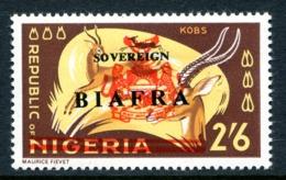 Biafra - Nigeria 1968 Wildlife Overprints - 2/6 Kobs HM (SG 13) - Nigeria (1961-...)