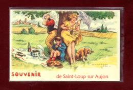 61-CARTE POSTALE DE SAINT LOUP SUR AUJON - France