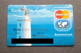 Poland Pologne BPH MasterCard Bank Card Banque Carte Lighthouse Phare - Tarjetas De Crédito (caducidad Min 10 Años)