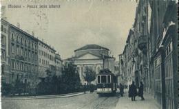 MODENA PIAZZA DELLA LIBERTA' 1920 ANIMATA TRAMWAY - Modena