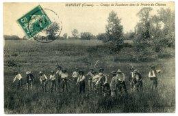 MAINSAT. Groupe De Faucheurs Dans La Prairie Du Château. - Autres Communes