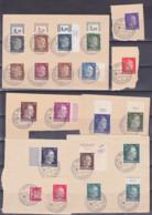 Deutsches Reich Ukraine Deutsche Dienstpost Chortitza 1.5.43 Briefstücke, Aus Mi. 1 - 18 - Ocupación 1938 – 45