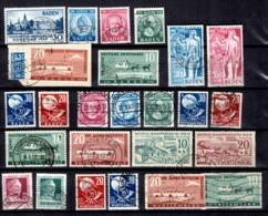 Allemagne/ZOF Petite Collection Des Trois Zones 1947/1949. Tous Oblitérés Avec Bonnes Valeurs. B/TB. A Saisir! - French Zone