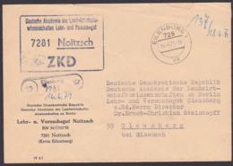 Noitzsch Eilenburg Deutsche Akademie Der Landwirtschaftswissenschaften, PSSt. ZKD-Kastenstempel 1971 Nach Clausberg - Dienstpost