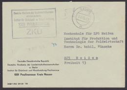 Paulinenaue Kr. Nauen Deutsche Akademie Landwirtschaftswissenschaften PSSt. ZKD-Kastenstempel 1968 Nach Meißen - Dienstpost