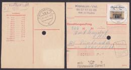 """Germany Einzahlungsauftrag DDR 50 Pfg. """"Neue Wache"""" Aus Alt-Madlitz Fürstenwalde (Spree) Portogenau 1971 - [6] República Democrática"""