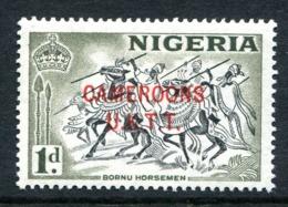 Cameroon 1960-61 Nigeria Overprints - 1d Horsemen LHM (SG T2) - Cameroon (1960-...)