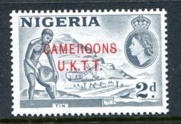 Cameroon 1960-61 Nigeria Overprints - 2d Tin - Pale Grey - MNH (SG T4c) - Cameroon (1960-...)