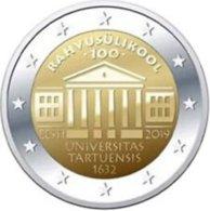 Estland  2019     2 Euro Commemo 100 Jaar Universiteit Van Tartu   UNC Uit De Rol  UNC Du Rouleaux  !! - Estonia