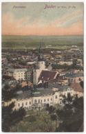 AK Baden Bei Wien, Panoramaansicht, Gel. 1911 - Baden Bei Wien