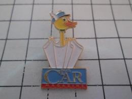 1019 Pin's Pins : BEAU ET RARE : Thème MEDIAS / CANARD PARAPLUIE BUS & CAR MAGAZINE - Medios De Comunicación