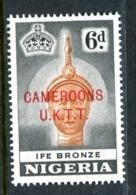 Cameroon 1960-61 Nigeria Overprints - 6d Ife Bronze - P.14 - LHM (SG T7) - Camerun (1960-...)