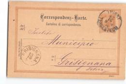 17687 STABILIMENTO ARTISTICO TIPOGRAFICO CAPRIN - TRIESTE TO GRISIGNANA - Interi Postali