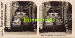 ANCIENNE PHOTO STEREOSCOPIQUE STEREOVIEW FOTO STEREO VUES D'ITALIA - ROME SAINT PIERRE TOMBEAU DE PAUL III - Stereo-Photographie