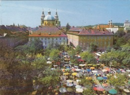 SLOVENIA - Ljubljana 1983 - Osrednji Zivilski Trg S Stolnico V Ozadju - Provision Market - Lebensmittelmarkt - Slovenia
