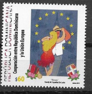DOMINICAN REPUBLIC , 2019, MNH, EU, DOMINICAN COOPERATION WITH THE E.U., DANCING, MUSICL INDUSTRY,1v - European Community