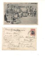 FB56 POSTCARD Bulgaria Bulgarie 1909 Tatar Pazardjik Les Cireurs Tziganes Stamp - Bulgaria