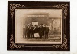 Paris Nord.Grêve Des Cheminots 1910. Quête Des Cheminots Révoqués. RARE. - Trains