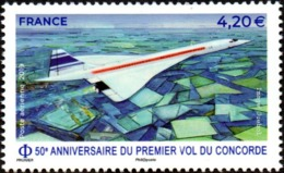 France N° PA  83 ** Poste Aérienne - 50e Anniversaire Du 1er Vol Du Concorde - Luftpost