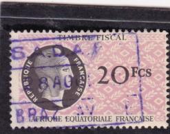 Timbre Fiscal A.E.F 20 Francs - A.E.F. (1936-1958)
