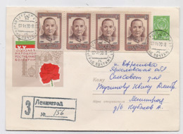 MAIL Post Stationery Cover USSR RUSSIA Sun Yat Sen China Chinese Leningrad - Lettres & Documents