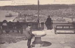 NICE PLATEFORME DU CHATEAU ET VUE PANORAMIQUE CACHET AU DOS HOPITAL MILECOMPIN 6 AVRIL 1915 - Parcs Et Jardins