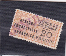 Timbre Fiscal Dimension A.E.F Médaillon De Daussy 20 Francs - A.E.F. (1936-1958)