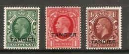 MOROCCO AGENCIES (TANGIER) 1934 - 1935 SET SG 235/237 LIGHTLY MOUNTED MINT Cat £13.50 - Bureaux Au Maroc / Tanger (...-1958)