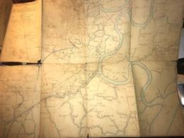 Rare Carte Topographique Des Env. De SAIGON (Viet Nam) De 1904 Par Lieutenant Chantereau Artillerie Coloniale Colonies - Topographische Kaarten